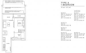 JadeScape Floor Plan 1 Bedroom TYPE A