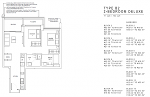 JadeScape Floor Plan 2 Bedroom B2