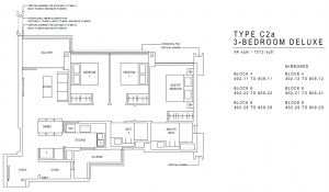 JadeScape Floor Plan 3 Bedroom C2a