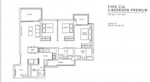 JadeScape Floor Plan 3 Bedroom C3b
