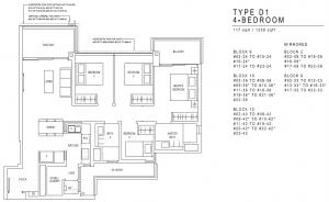 JadeScape Floor Plan 4 Bedroom D1