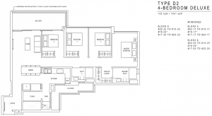 JadeScape Floor Plan 4 Bedroom D2