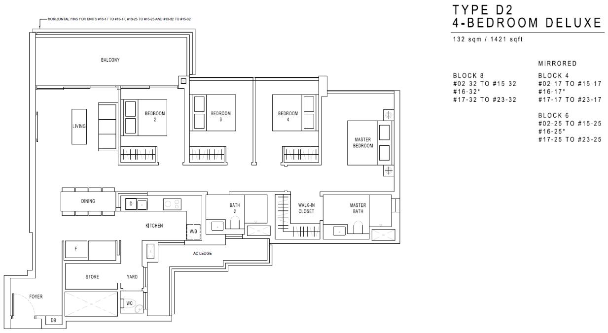 JadeScape Floor Plan 4 Bedroom D2